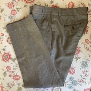 J. Crew Light Brown Wool/Silk Blend Pants, Size 6